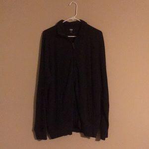 Grey Old Navy Full-zip sweater